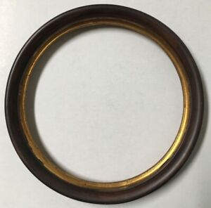 Vintage Italian 6 5 In Round Antique Wood Picture Frame W Stunning Gold Leaf X74