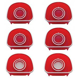 United Pacific 1968 Chevy Impala Caprice Led Tail Backup Light Set Ss Trim