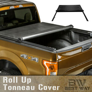 Roll Up Lock Soft Tonneau Cover For 2003 2009 Dodge Ram 2500 3500 6 5ft 78in Bed