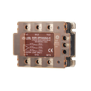 Ssr 3ph40aa h 40a Three Phase Ssr Solid State Relay Ac To Ac In 280vac Out 480v