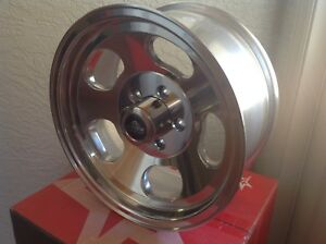 2pc 15 Inch Vna69 15x8 Polished Classic Ansen Sprint Rims Chevy Gm 5 Lug 5x4 75