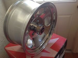 15 Inch Vna69 Ansen Sprint 5 Lug 15x7 Polished Rims Wheels 5x4 5 Vna695765p