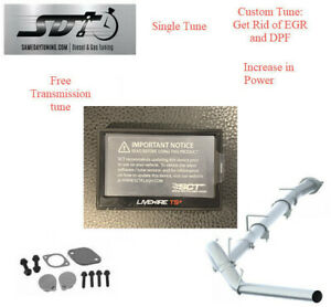 Sct Livewire Egr Dpf Delete Kit For 2008 2010 6 4l Powerstroke 4 Exhaust