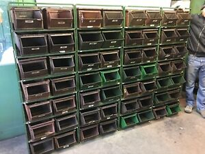 Large 56 Bin Drawer Industrial Parts Tools Cabinet Whole Wall Size