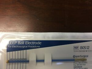 Leep Ball Electrode With 5mm Diameter 12cm Shaft b0512 Box Of 3