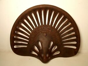 Antique Walter A Wood Cast Iron Tractor Seat Implement No Cracks Nice
