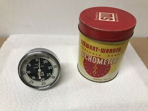 Vintage Stewart Warner Portable Hand Held Tachometer Model 757 W