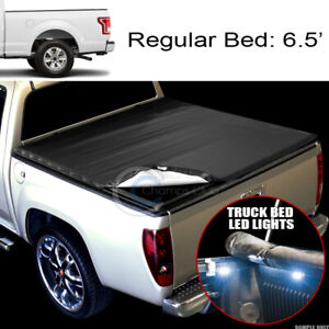 Snap On Vinyl Tonneau Cover 16x Led Lights 15 18 Ford F150 6 5 Ft 78 Truck Bed