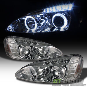 2004 2008 Pontiac Grand Prix Led Halo Projector Headlights Headlamps Left right