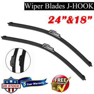 24 18 Bracketless Windshield Wiper Blades All Season Premium Oem Quality New