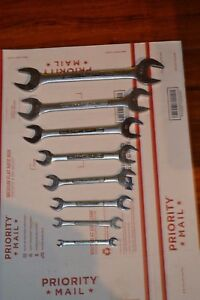 Lot Of 8 Craftsman V vv series Metric Open End Wrench 1 4 1 1 8