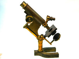 Antique Brass Microscope Bausch And Lomb C 1900