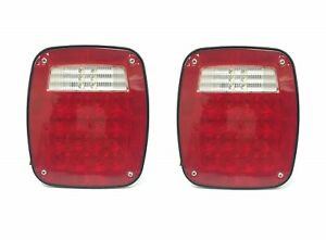 2 Pack Universal Square 12v Combination 38 Ultra Bright Led Signal Tail Light