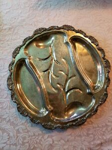 Epca Lancaster Rose Poole Silver Serving Dish 19