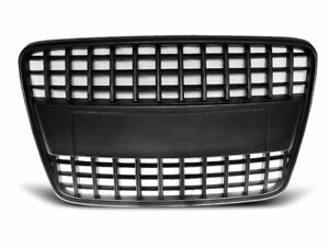 Sline Black Front Grill For Audi Q7 With Detachable Badge Frame