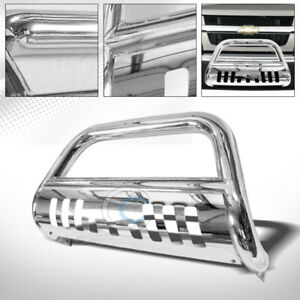 Fits 04 12 Chevy Colorado gmc Canyon Chrome Bull Bar Brush Bumper Grille Guard
