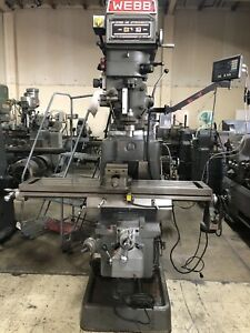 Webb Champ Series 5vk Manual Milling Machine With Digital Read Out
