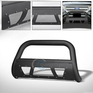 Fit 11 18 Ford Explorer Matte Blk Studded Mesh Bull Bar Brush Bumper Grill Guard
