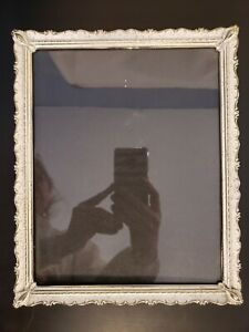 Antique Vintage Ornate 3d Picture Photo Frame 8 X 10 White And Gold