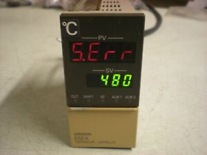 Omron E5ex a f Temperature Controller For Control Valves Powers Up As Shown