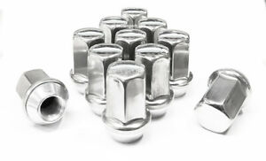 24 Stainless Steel 14x1 5 Oem Stock Factory Lug Nuts Chevrolet Gmc Buick 7 8 Hex