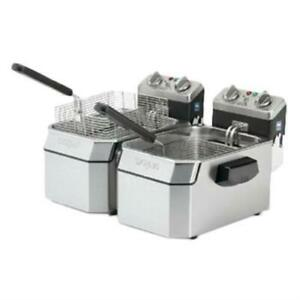 Waring Wdf1000d Deep Fryer Electric Counter top Double