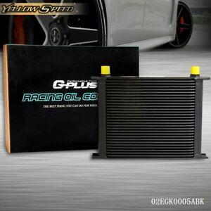 30 Row An 10an Universal Aluminum Engine Transmission Oil Cooler Black