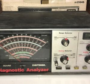 Sears Craftsman Automotive Diagnostic Engine Analyzer Sold For Parts And Repair