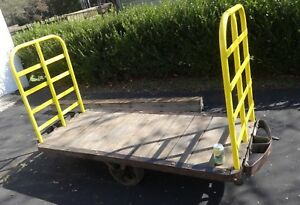 Vintage Industrial Railroad Baggage Cart 84