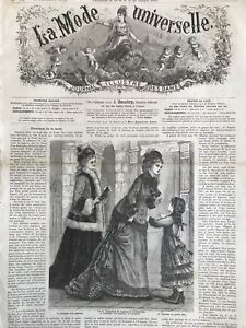 Rare 1870 S Sewing Patterns Tracings Mode Universelle Nov 16 1875