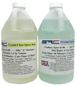 Epoxy Resin 1 Gal Kit For Crystal Clear Coating Bar And Table Tops