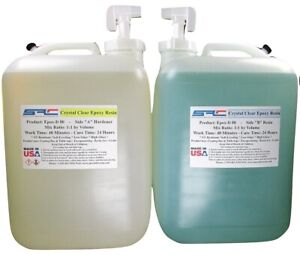 Clear Epoxy Resin For Table Tops Gloss Coating Casting 10 Gallons