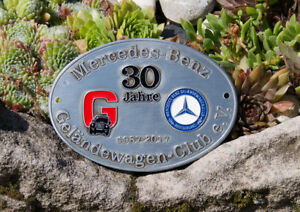 Automobile Car Badge Mercedes Benz G Class Offroad Club Germany 30 Jears