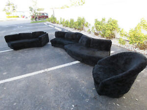Mid Century Low Sectional 4 Piece Living Room Sofa Set By Lane Furniture 9465
