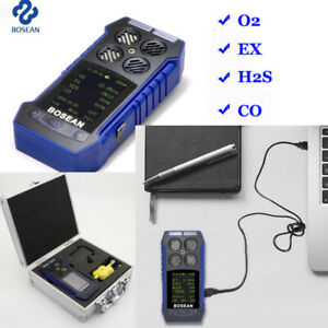 4 In 1 Gas Detector Co O2 H2s Ex Gas Monitor Temperature Analyzer Testing Meter