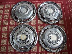 1968 1970 Chevy Camaro Set Of Four 14 Oem Hubcaps