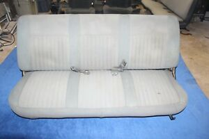 92 96 Ford F150 F250 F350 Bronco Front Bench Seat Gray Cloth Oem