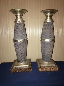 Pair Of Resin Candlestick Holders 15 1 2 Tall And Can Hold 3 Candle