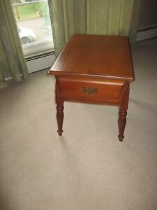 Vintage Rock Maple End Table With Drawer Rockport Rock Maple Circa 1960 S