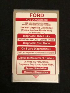 Ford Hichkok Ngs Special Tools Diagnostic Tester Red Card Version 14 0