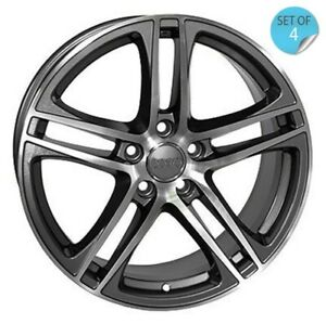 17 Inch Rims Audi S Line Style A3 A4 A5 A6 Machined Wheels R8 Wheels