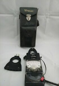 Vintage Triplett Model 10 Current Clamp W Model 101 Adapter In Leather Case