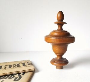 Antique French Wood Post Finial End Furniture Restoration Project 5 2 Inches