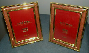 Lot Of 2 Vintage Detailed Soild Brass Picture Frames By Bowan 3 1 2 X 5