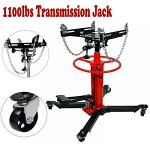 1100lbs 0 5ton Hydraulic Transmission Jack Stand Gearbox Lifter Hoist 2 Stage