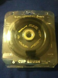 Forney Industrial Pro 72871 6 Steel Wire Twist Knot Cup Brush Arbor 5 8 11