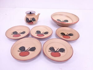 4003542 Japanese Tea Ceremony Bowl And Small Plate Set Of 5 Soy Sauce Pot
