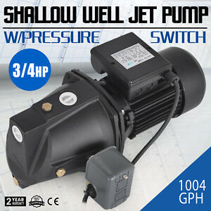 3 4 Hp Shallow Well Jet Pump W Pressure Switch Supply Water 183 7 Ft 1 Inch