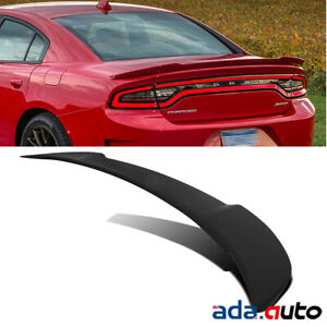Fit 2011 2018 Dodge Charger Black Matte Trunk Rear Hellcat Style Wing Spoiler