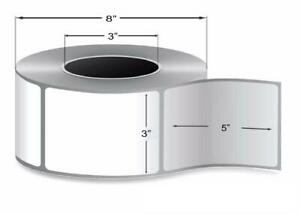Thermal Transfer Labels 3 X 5 Ribbon Required With Permanent Print 16 Rolls